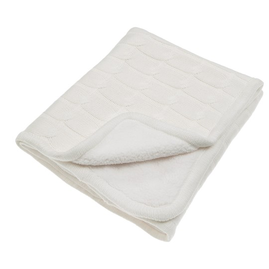 Vinter & Bloom Teddy Blanket Ivory White
