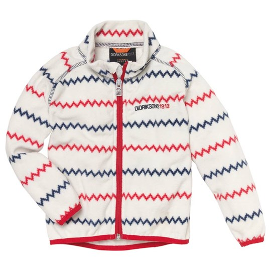 Didriksons Monte Jacket Off White Zigzag White