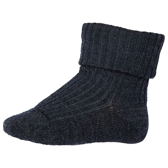 MP Wool Ankle Rib Socks Dark Grey Dark grey