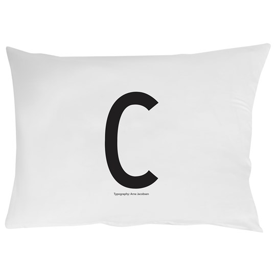 Design Letters Pillowcase C 70 x 50 cm White