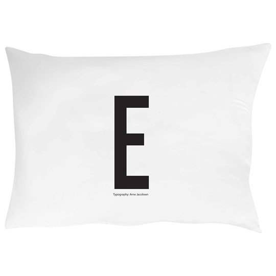 Design Letters Pillowcase E 70 x 50 cm White