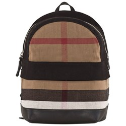 Burberry All over Print Check Backpack Black