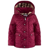 Burberry Quilted Jacket with Check-Lined Hood Fritillary Pink Fritillary Pink