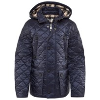 Burberry Lightweight Quilted Jacket with Detachable Hood Ink Blue Ink Blue