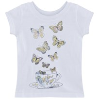 Wheat T-Shirt Butterfly Cup Short Sleeve White White