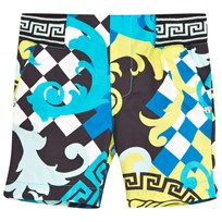 Young Versace Bermuda Black/Aqua/Yellow MULT /NERO-ACQUA/NERO
