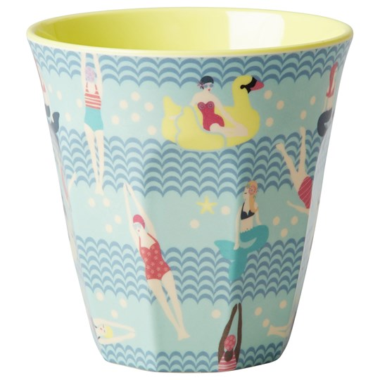 Rice Melamine Cup Two Tone with Swimster Print Multi