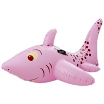 RICE A/S Inflatable Shark Rider Pink Pink