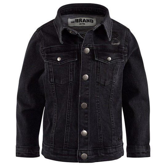 The BRAND Denim Jacket Washed Black Black