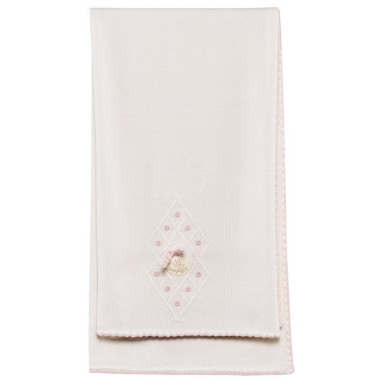 Lillelam Baby Blanket Seamless White/Pink Pink