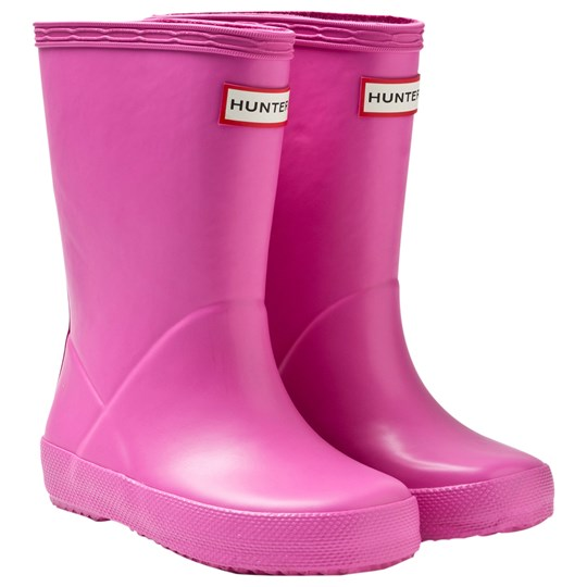 Hunter Kids First Classic Rain Boots Lipstick Rosa