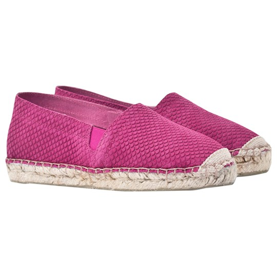 Rainbow & Snow Espadrille Embossed Suede Shoes Pink Pink