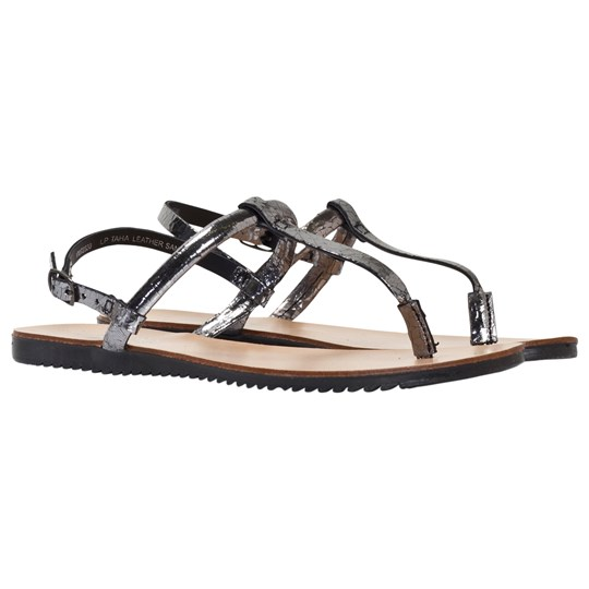 Little Pieces Taha Leather Sandal Gunmetal GUNMETAL
