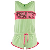 United Colors of Benetton Sporty Playsuit Green GREEN 15Q
