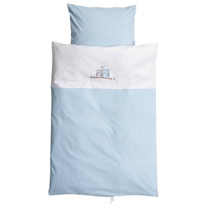 Image of Baby Dan Love Birds Baby Linen Blue (3065504293)