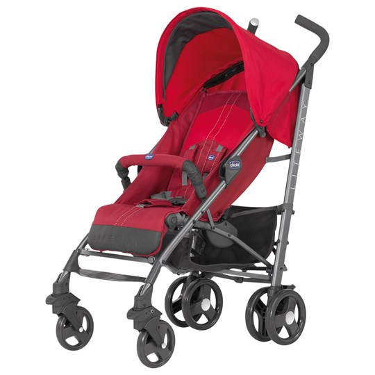 Chicco New Lite Way Basic W/Bumper Bar Red Red