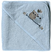 Baby Dan Love Birds Hooded Bath Towel Blue Baby Blue