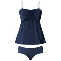 Boob Fast Food Tankini Ink Blue Blue