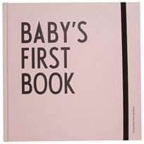 Design Letters Baby's First Book Vaaleanpunainen Pink