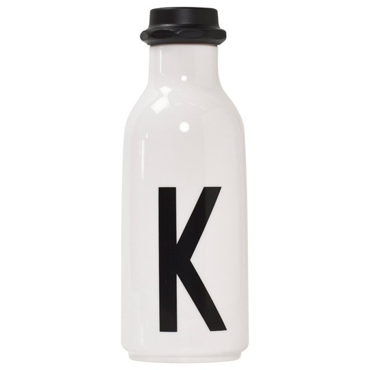 Design Letters Personal Water bottle K White with black letterprint