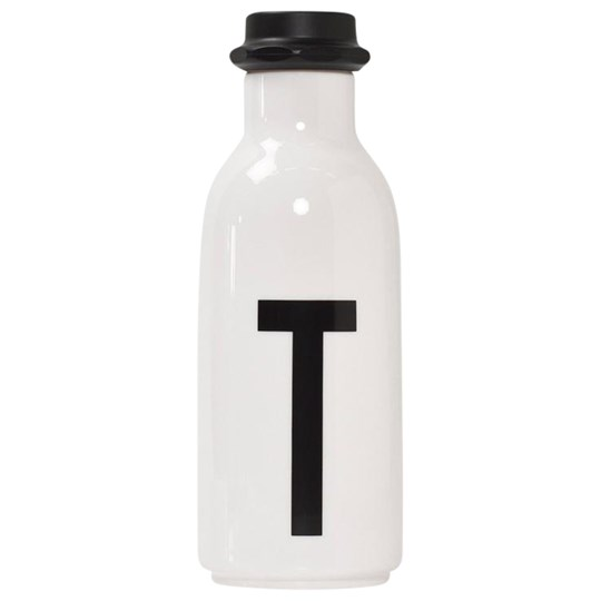 Design Letters Personal Water bottle T White with black letterprint