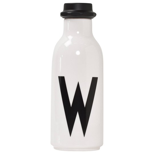 Design Letters Personal Water bottle W White with black letterprint