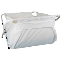 BiBaBad Portable Bath XL White/White Hvit
