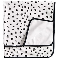 Kids Concept Neo White/Black Cotton Jersey Pebble Print Baby Blanket Svart/Vit