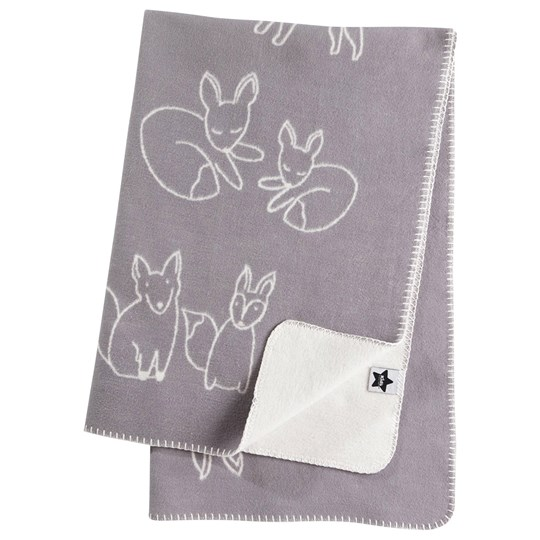 Kids Concept Edvin Fox - Grey Fleece Blanket Grå/Vit