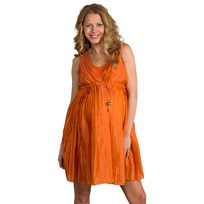 Mom2moM Pleated Dress Burnt Orange Orange