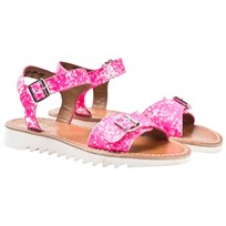 Pom Dapi Ripple Buckle Sandal Neon Pink Fluo Pink with White NUANCES