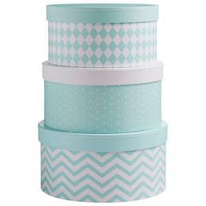 Image of Barnkammaren Barnkammaren Round Storage Box Set Mint (3056048645)