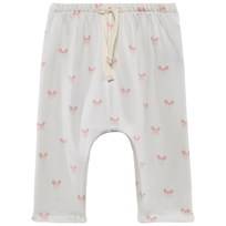 Soft Gallery Hailey Pants AOP Pink Miki Bright White, AOP Pink Miki