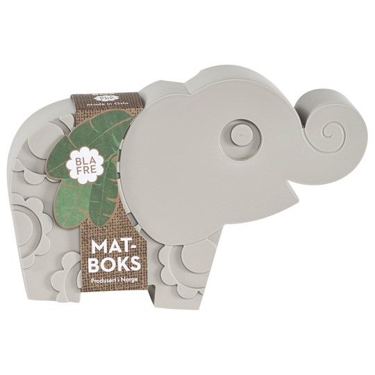 Blafre Plastic Elephant Food Box Grey Grey