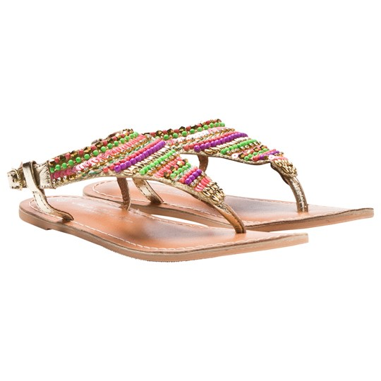 How To Kiss A Frog Sandal Multi/Pearls Multi