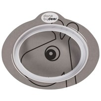 Done by Deer Contour Anti-slip Bowl Grey Black