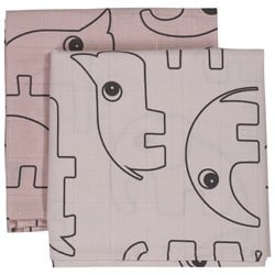 Done by Deer Contour Burp Cloth 2-Pack Powder