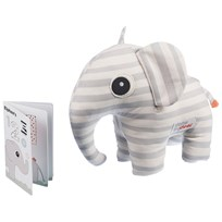 Done by Deer Soft Toy 3D Elphee + Booklet Grey Grey