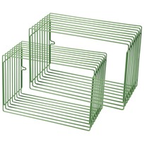 Done by Deer Wire Rectangle Shelf 2 Pieces Green Green