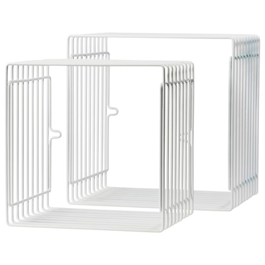 Done by Deer Wire Shelf Square 2 pcs White White