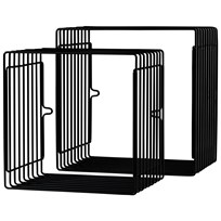 Done by Deer Wire Shelf Square 2 pcs Black Black