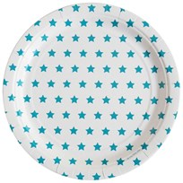 My Little Day 8 Paper Plates - Blue Stars Blue Stars