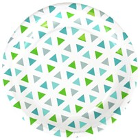 My Little Day 8 Paper Plates - Green Triangles green triangles