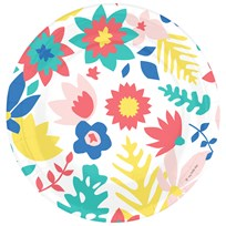 My Little Day 8 Paper Plates - Tropical Flowers tropical flowers