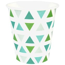 My Little Day 8 Paper Cups - Green Triangles