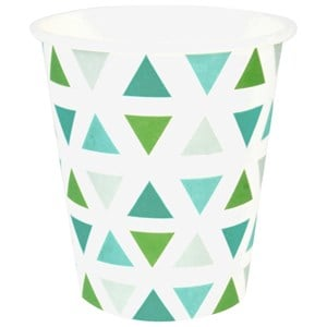 Image of My Little Day 8 Paper Cups - Green Triangles (2743696353)