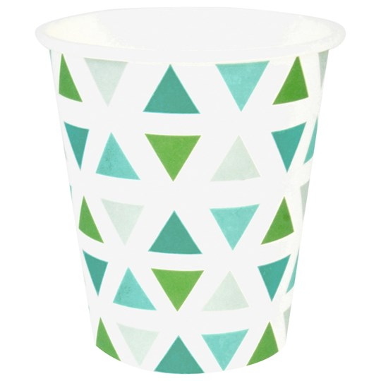 My Little Day 8 Paper Cups - Green Triangles green triangles