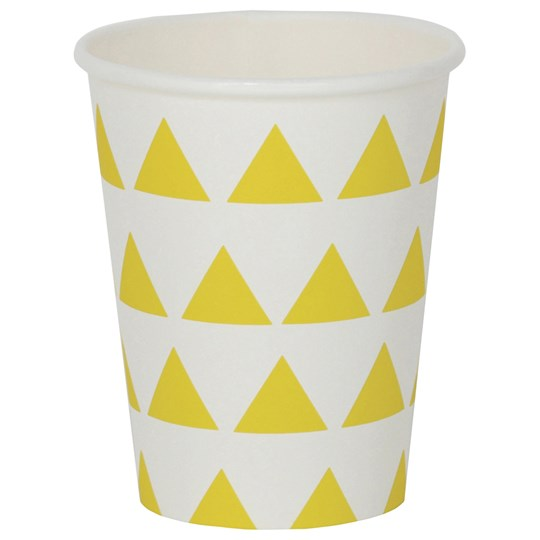 My Little Day 8 Paper Cups - Yellow Triangles yellow triangles