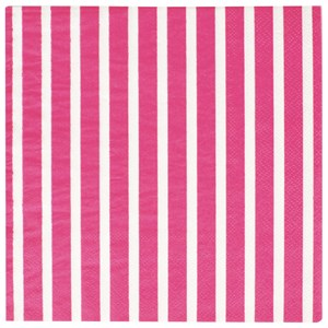 Image of My Little Day 20 Paper Napkins - Bright Pink Stripes (2743698017)