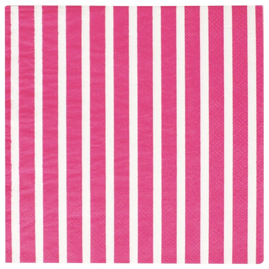 My Little Day 20 Paper Napkins - Bright Pink Stripes bright pink stripes
